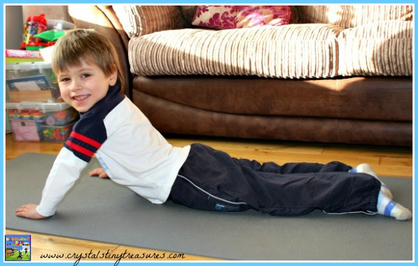 Venomous snake, cobra pose, kids yoga, gym class ideas, winter PE ideas, photo