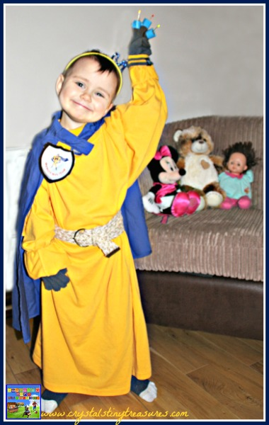 Manner-Man outfit, books borought to life, Superhero play, Making a Superhero costume, photo