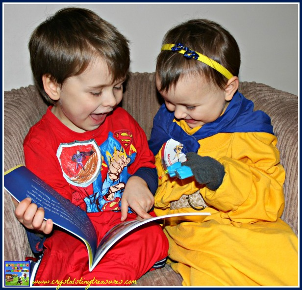 Reading Manner-Man, children's books about manners, books about bullying, Superhero books, photo