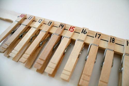 DIY-Number-Line, photo