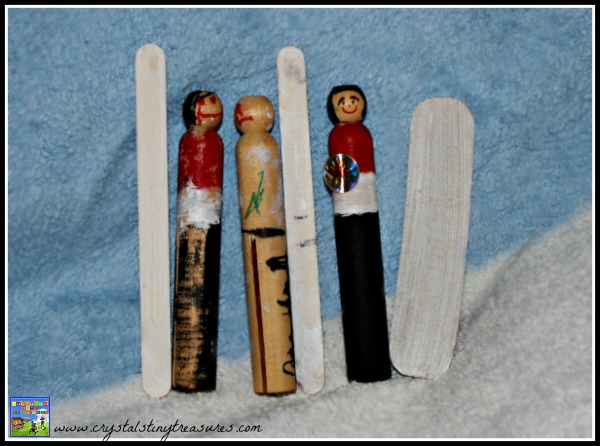 Winter Olympic Peg People, Team Canada 2014, Winter Olympic crafts for kids, Crystal's Tiny Treasures, wooden peg crafts, photo