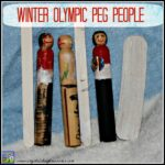 Winter Olympic Peg People