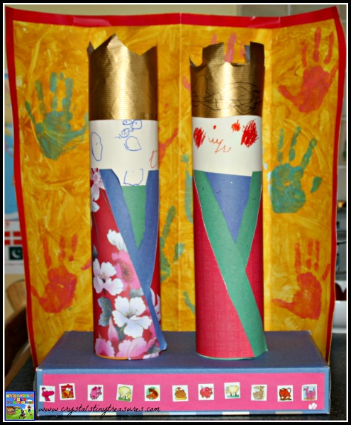 Homemade Japanese Hina Doll Craft, Cultural crafts for daycares, cultural crafts for schools, photo