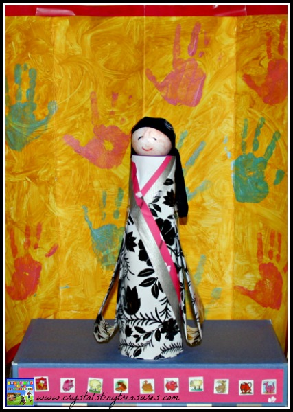 Hina Doll craft, kids learning about Japanese culture, photo