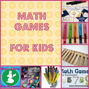 Math Games For Kids on Mom's Library with Crystal's Tiny Treasures