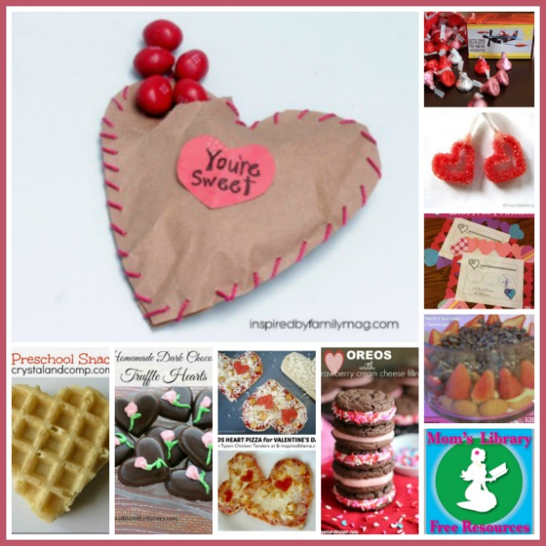 Valentine's Day Treats on Mom's Library at Crystal's Tiny Treasures