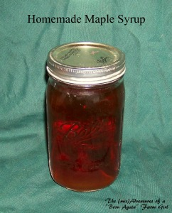 homemade maple syrup recipe, photo