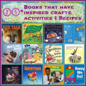 25+ Books that have inspired crafts, activities & recipes for Crystal's Tiny Treasures