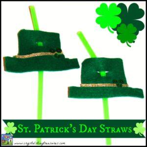 St. Patrick's Day Straws by Crystal's Tiny Treasures