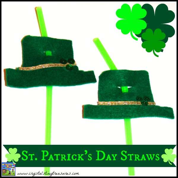 St. Patrick's Day Straws by Castle View Academy bring fun to the table!