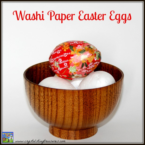 Washi paper Easter eggs by Crystal's Tiny Treausres