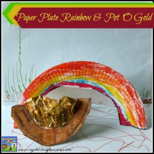 Paper Plate Rainbow Craft For Kids by Crystal's Tiny Treasures, photo