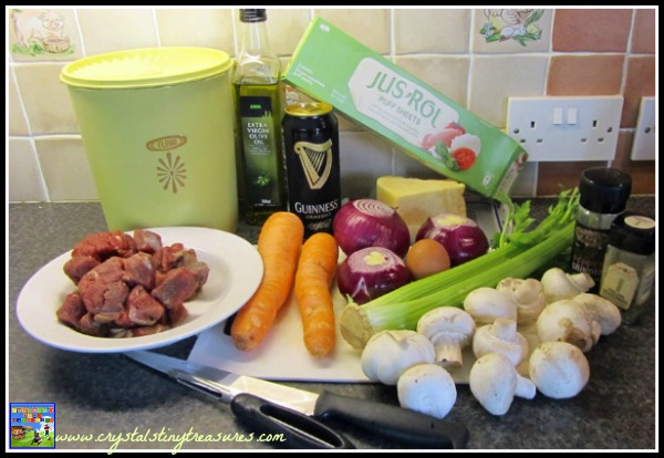 Guinness Pie ingredients, photo