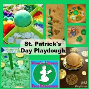 St. Patrick's Day Playdough on Mom's Library at Crystal's Tiny Treasures