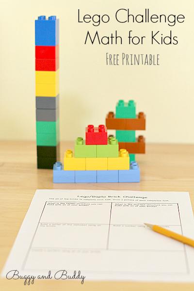 Lego challenge math for kids, photo