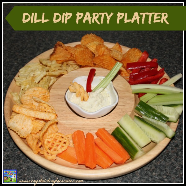 Dill Dip Party Platter with Maille Mustard with white wine dill and lime by Crystal's Tiny Treasures