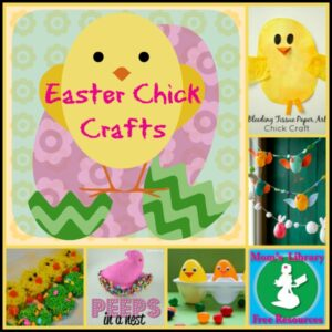 Easter Chick Crafts on Mom's Library at Crystal's Tiny Treasures