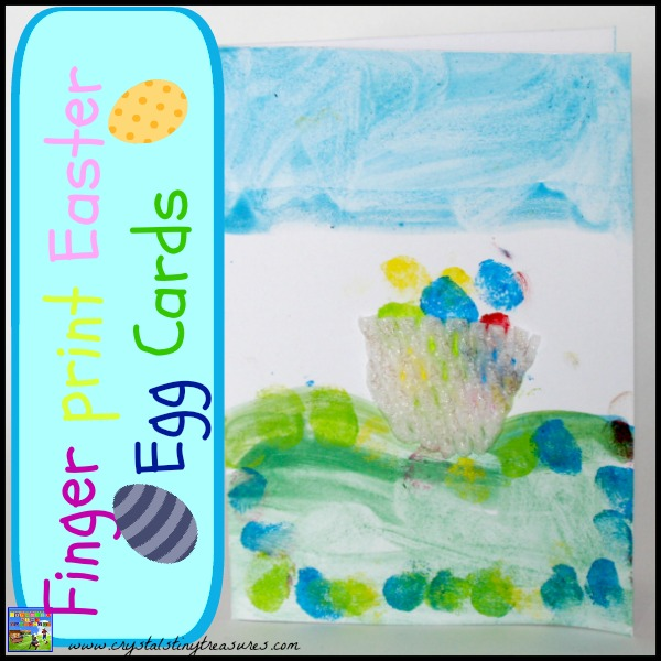 Finger Print Easter Egg Cards by Castle View Academy