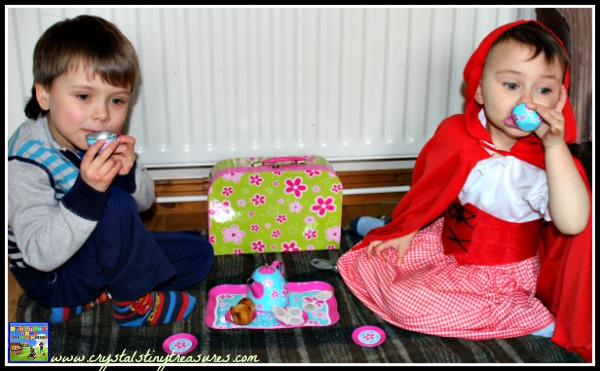 Children's Tea Pary, homemade gifts from grandmas, rainy day fun for kids, photo