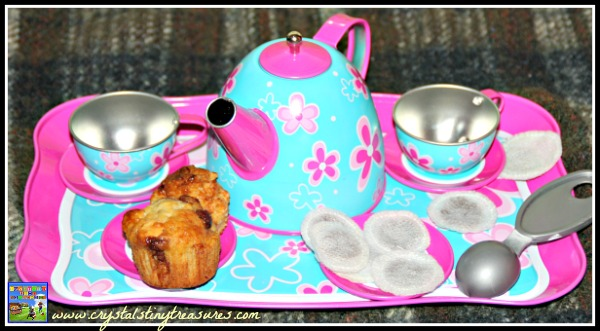 home made pretend tea bag, kids tea party accessories, photo