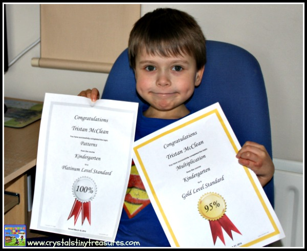CTC Math achievement certificates, CTC Math review, Crystal's Tiny Treasures, photo