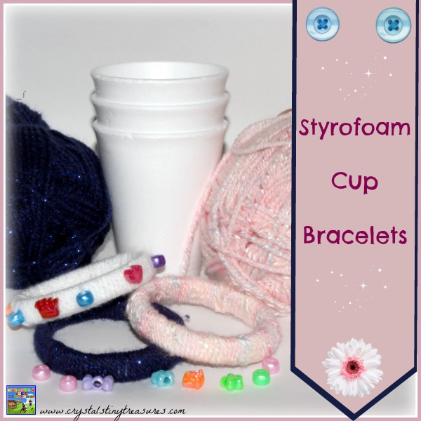 Recycled Styrofoam Bracelet For Kids by Crystal's Tiny Treasures