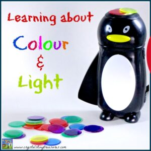 Learning about Colour and Light, early science for kids by Crystal's Tiny Treasures