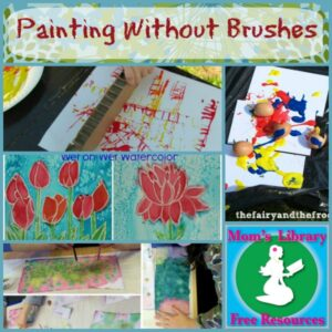 Painting Without Brushes on Mom's Library with Crystal's Tiny Treasures