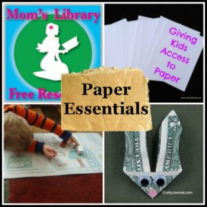 Paper Essentials on Mom's Library by Crystal's Tiny Treasures
