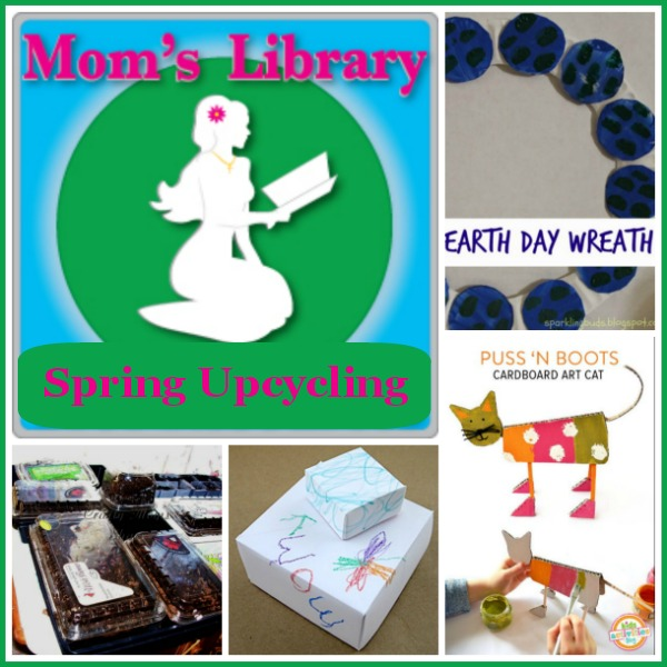 Spring Upcycling on Mom's Library at Crystal's Tiny Treasures, photo