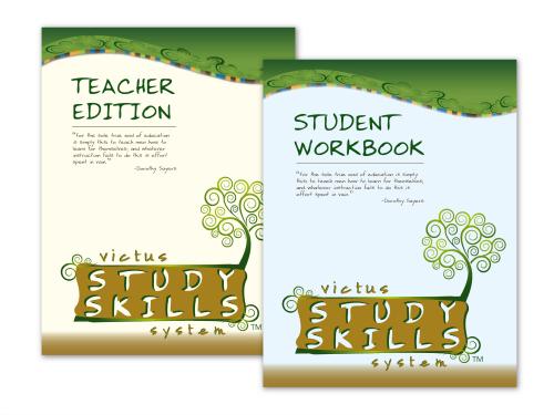 Victus book covers, study skills books, photo