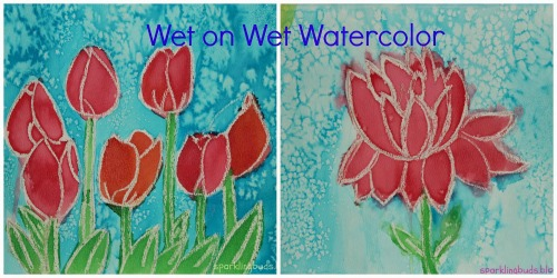 Watercolour wet on wet, photo