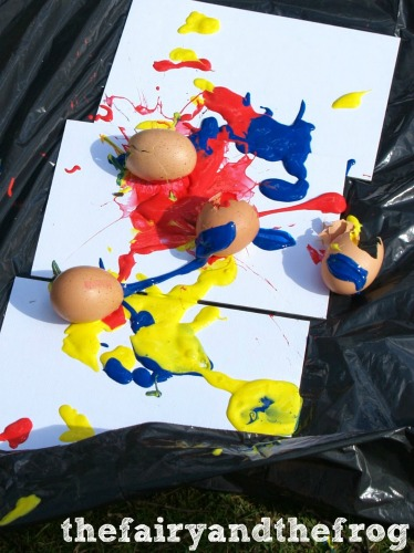 egg paint bomb, photo