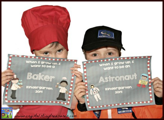 Baker & Astronaut When i grow up I want to be...posters, Faux Paw book extension activity, end of year fun for kids, photo