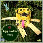 Egg carton frog by Crystal's Tiny Treasures