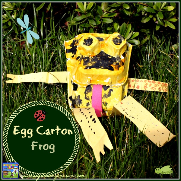 Egg carton frog by Crystal's Tiny Treasures
