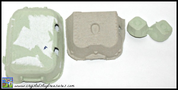 Egg carton frog craft template, egg carton crafts for kids, photo