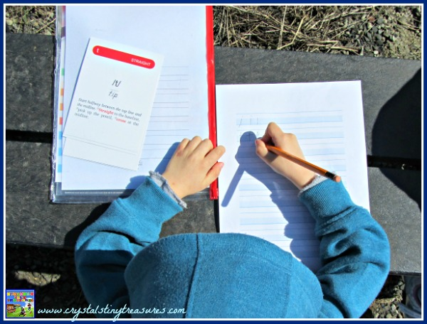 Handwriting practice, Logic of English, Rhythm of Handwriting, learning to print, handwriting without tears, photo