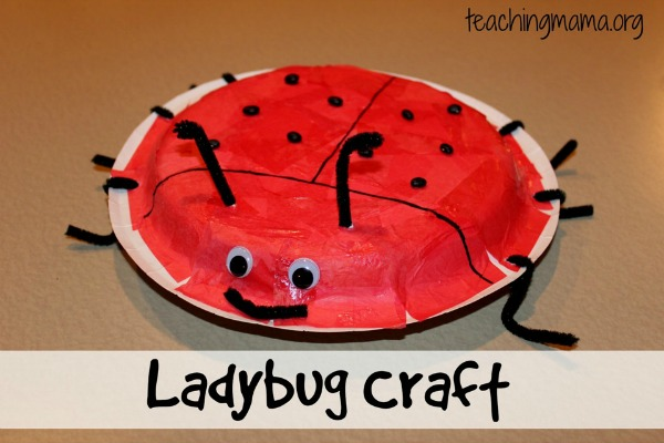 Ladybug paper plate craft, photo