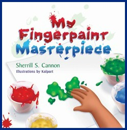 My Fingerpaint Masterpiece Book Review by Crystal's Tiny Treasures, kid lit, children's picture books, kids rhyming books, photo