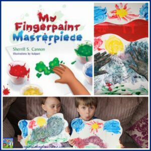 My Fingerprint Masterpiece Review by Crystal's Tiny Treasures, kid lilt, art picture books for kids, photo
