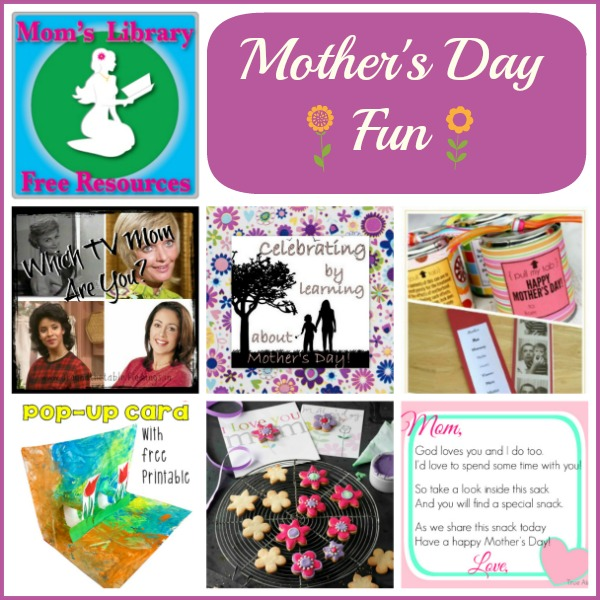 Mother's Day Fun on Mom's Library with Crystal's Tiny Treasures