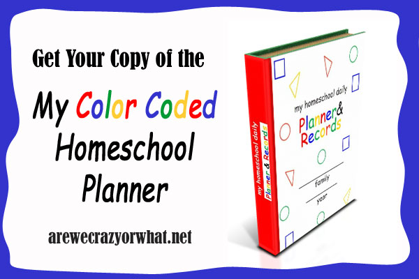 My color Coded Homeschool Planner