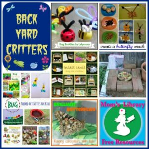 Backyard critters on Mom's Library with Crystal's Tiny Treasure
