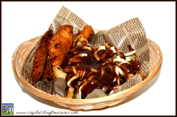 Homemade Canadian Poutine by Crystal's Tiny Treasures,  multicultural foods, Canadian recipe, photo