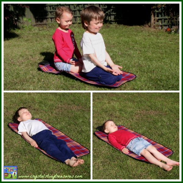 Hero pose and Resting pose, kids yoga poses, kids yoga books, photo