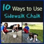 10 Ways to Use Sidewalk Chalk