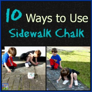 10 Ways to use Sidewalk Chalk by Crystal's Tiny Treasures