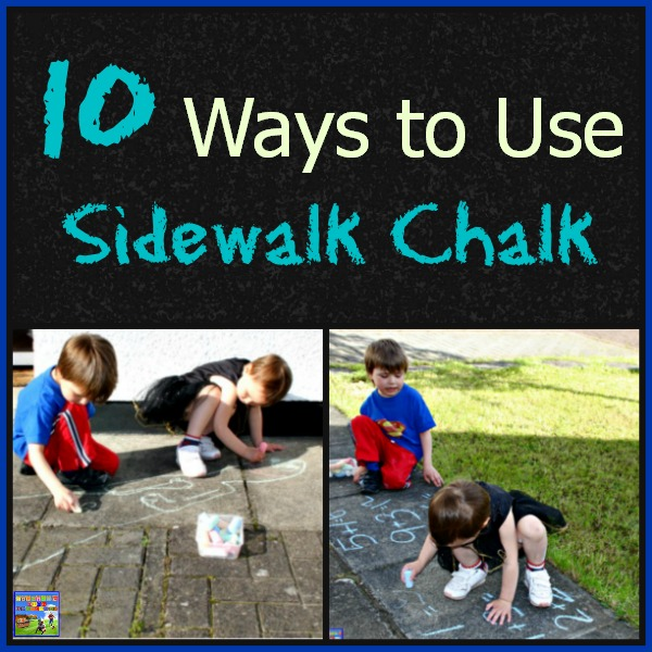 10 Ways to use Sidewalk Chalk by Crystal's Tiny Treasures