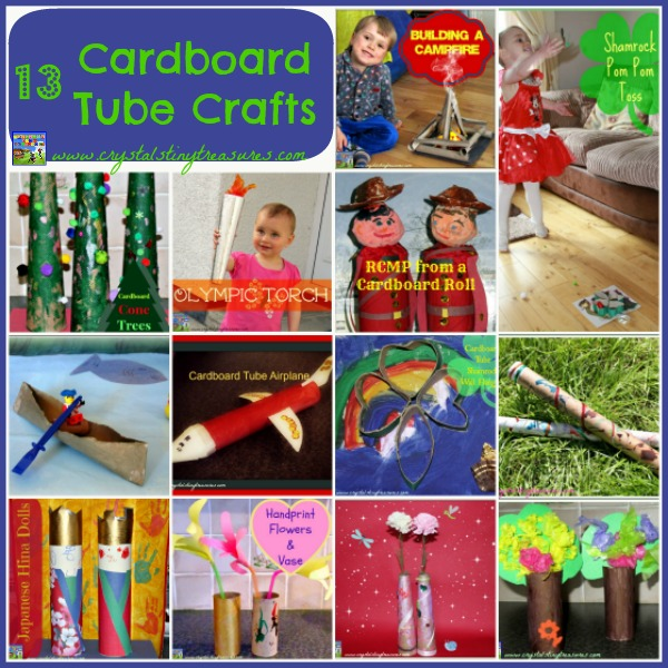 13 Cardboard Tube Crafts For Kids by Crystal's Tiny Treasures